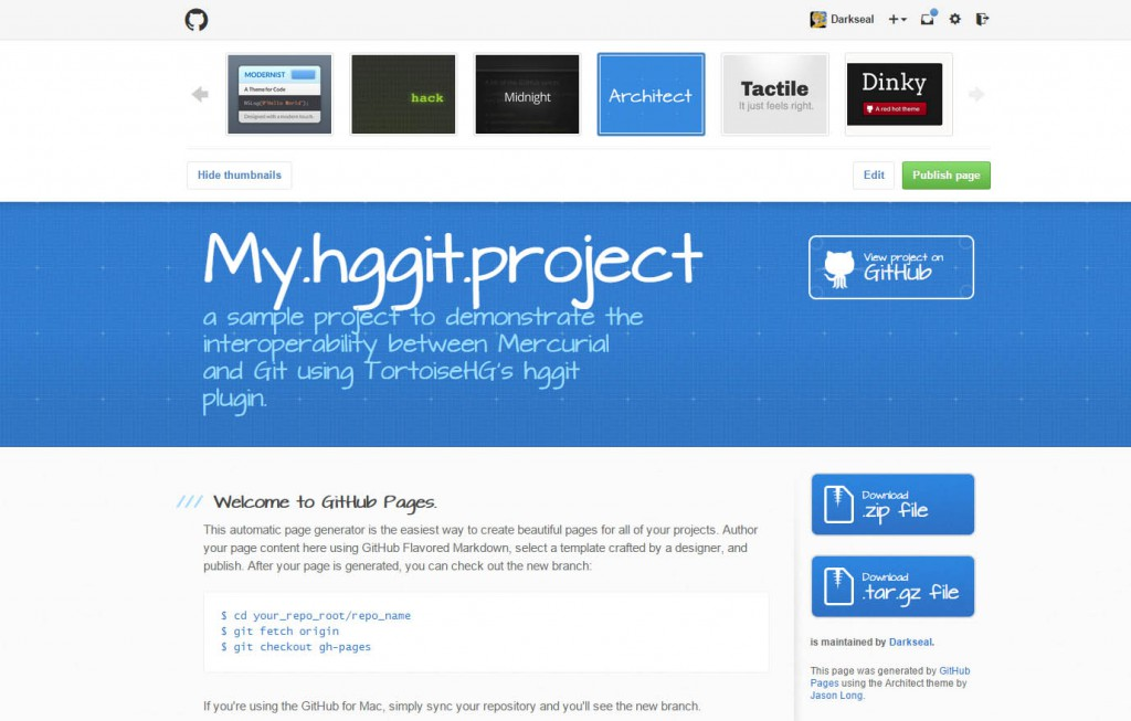 github.project.page.layout