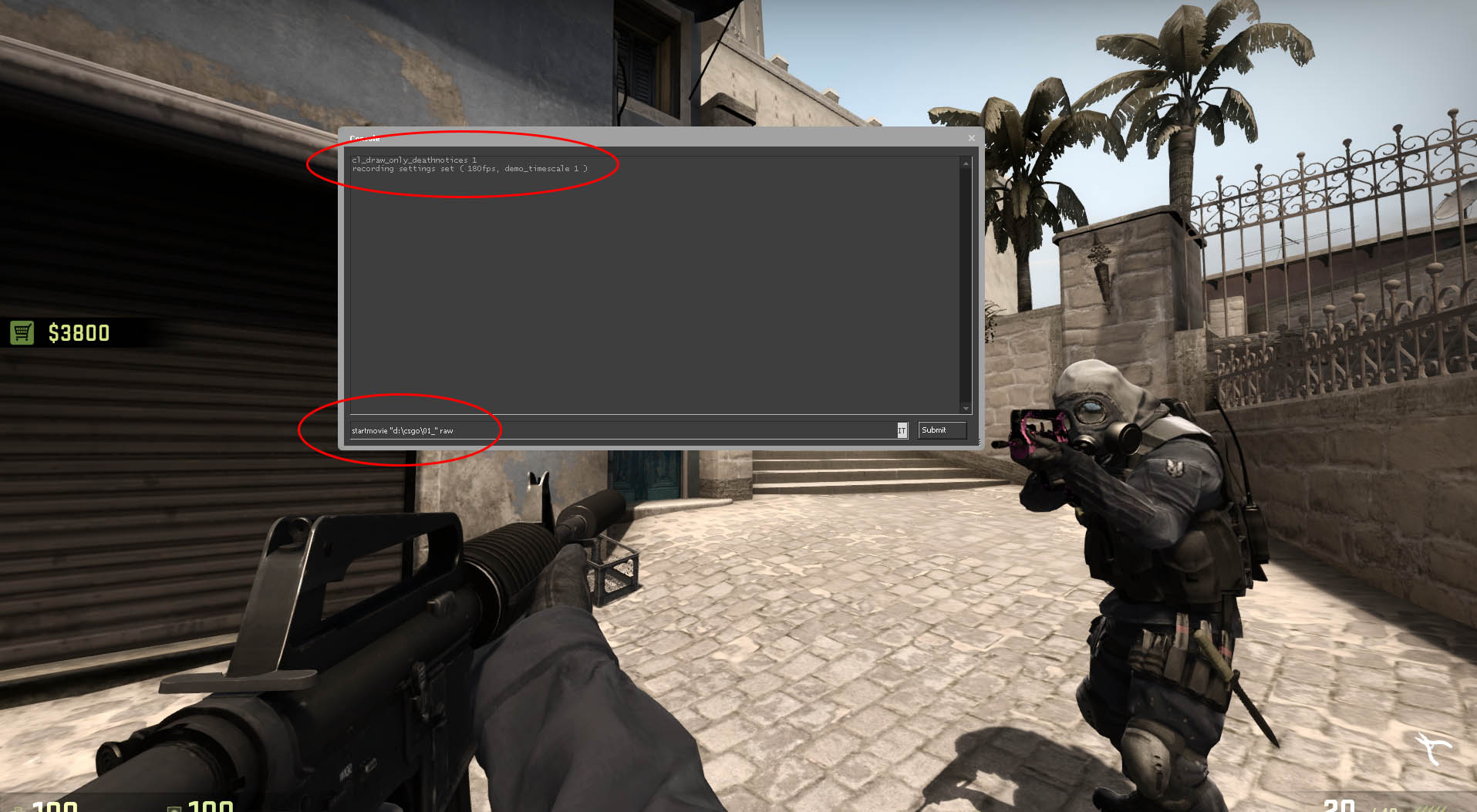 how to clear console csgo