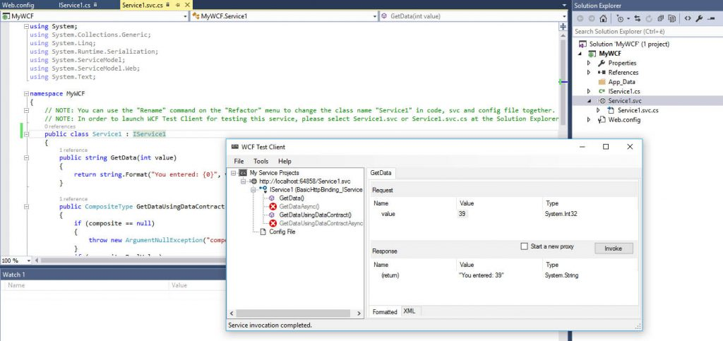 Creare un Web Service SOAP con ASP.NET WCF, Visual Studio e IIS 8