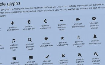 How to use Bootstrap 3 Glyphicons Halflings set with Bootstrap 4 (with or without FontAwesome mapping)