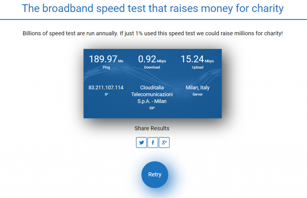 Comparitech Speed Test - una valida alternativa a Speedtest.net di Ookla