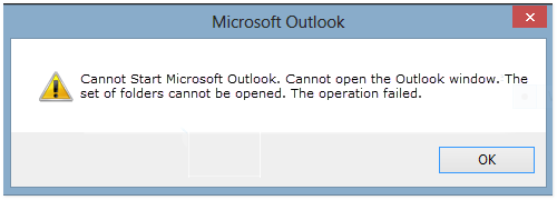 Outlook 2016 - The Set of Folders Cannot be Opened Error - FIX