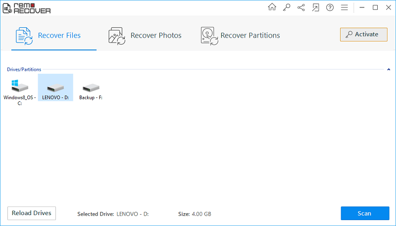 Remo Recover - file and partition recovery tool for win and mac - Review