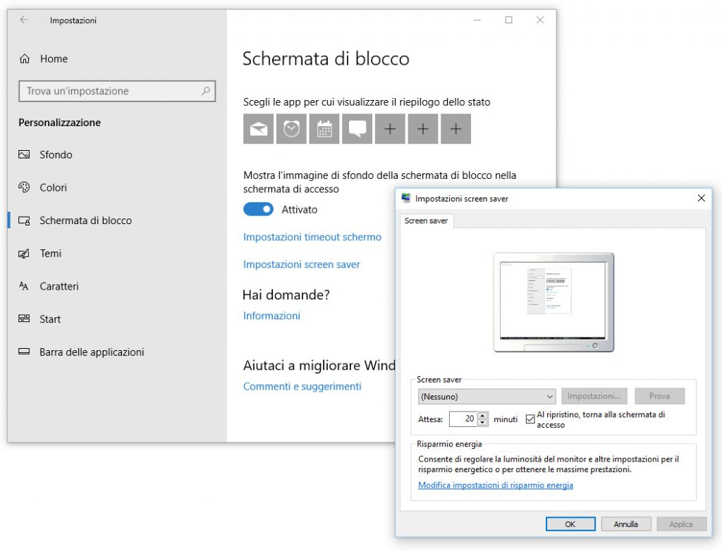Windows e Windows Server - Impostazioni di sicurezza account