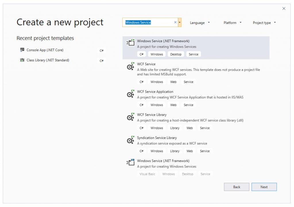 Create a Windows Service in C# using Visual Studio