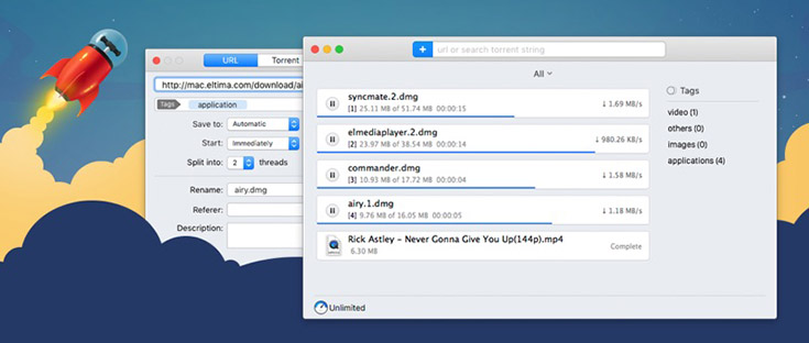 Folx - a great uTorrent alternative for macOS Catalina